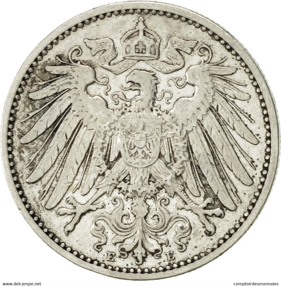 GERMANY - EMPIRE, Wilhelm II, Mark, 1902, Muldenhütten, TTB+, Argent, KM:14 - [ 2] 1871-1918: Deutsches Kaiserreich