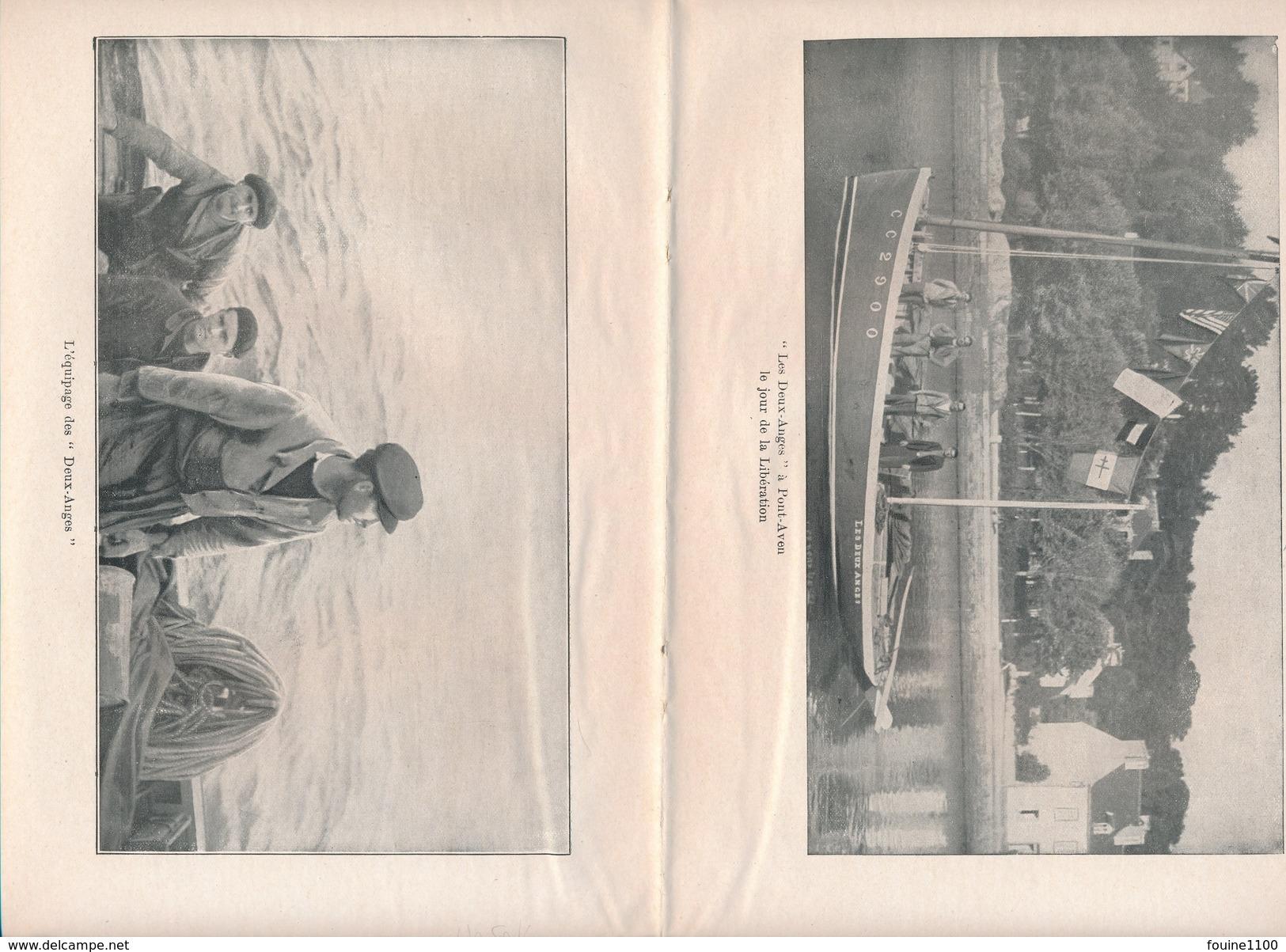 Page Double D' Un Livre Ou Revue Non Identifiée Avec Le Bateau Et L' équipage Les Deux Anges à Pont Aven 29 - Vieux Papiers