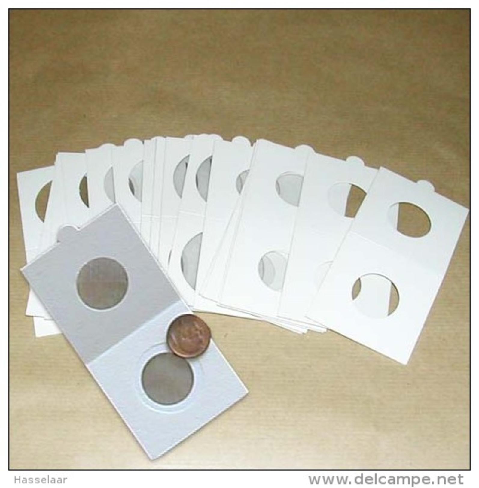 25 Cartons Pour Pièces De Monnaies Hartberger à Agrafer - 37,50 Mm - Matériel