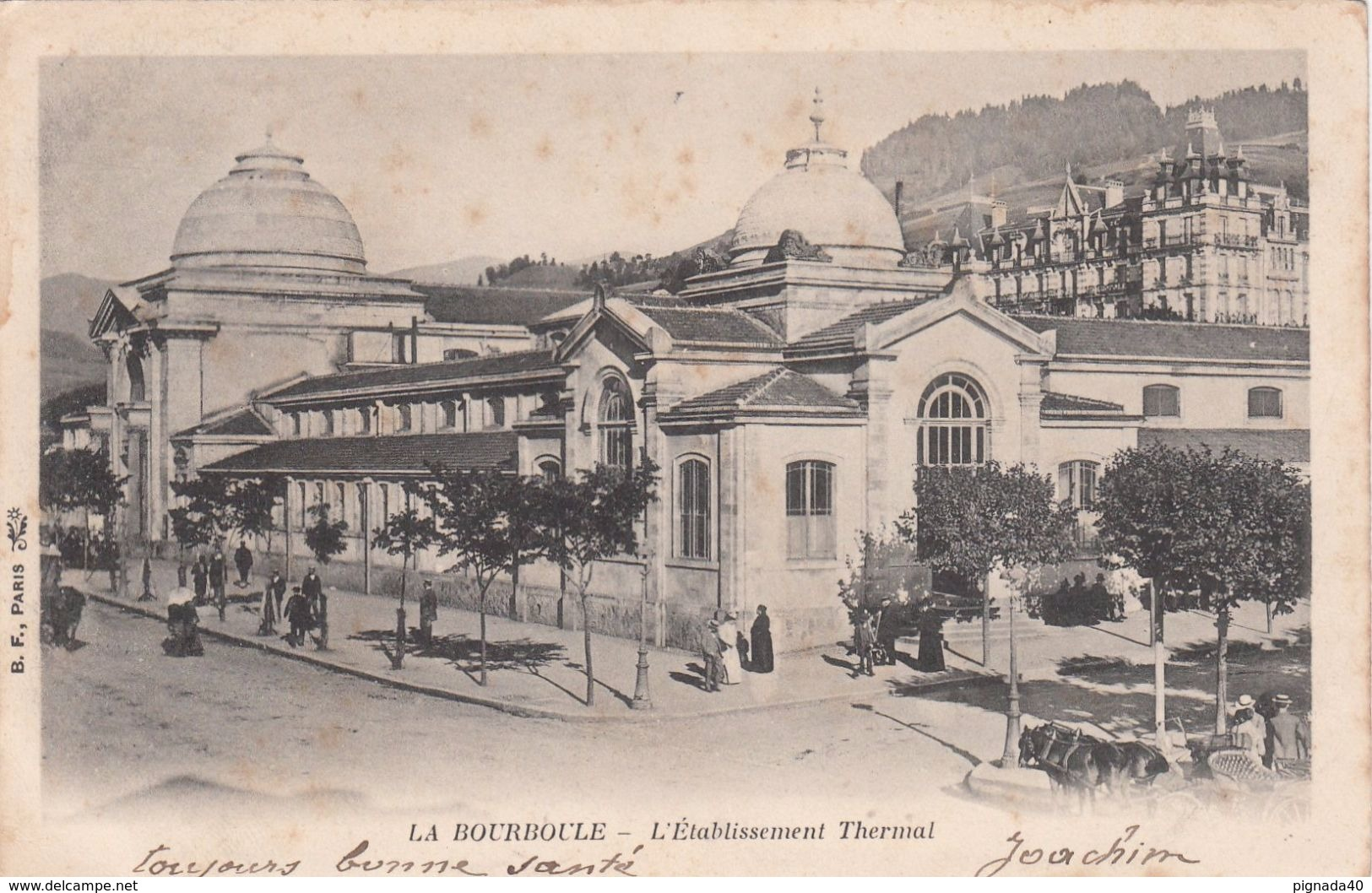 Cp , 63 , LA BOURBOULE , L'Établissement Thermal - La Bourboule