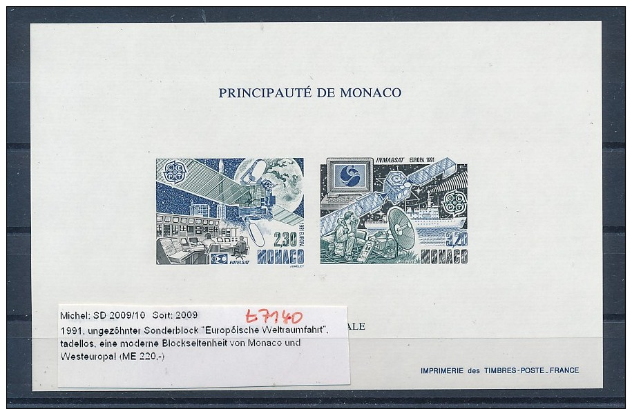 Monaco Sonder Block  2009-10   =220,-€   (t7140  ) Siehe Bild ! - Bloques