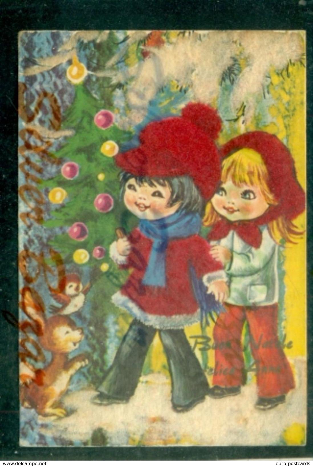 CARTOLINA  VELLUTO-CARTE VELOURS-VELVET CARD-BAMBINI - Cartoline