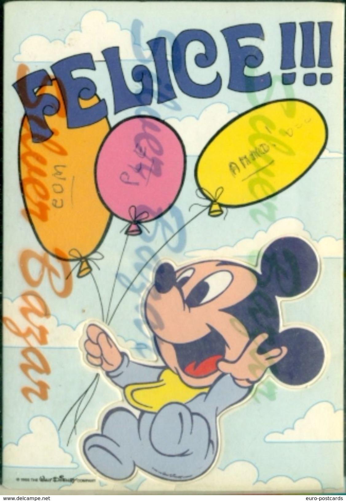 CARTOLINE FUSTELLATE-FROZEN CARDS-CARTES CONGELÉES-AUGURALI-FUMETTI-TOPOLINO ASPORTABILE - Cartoline