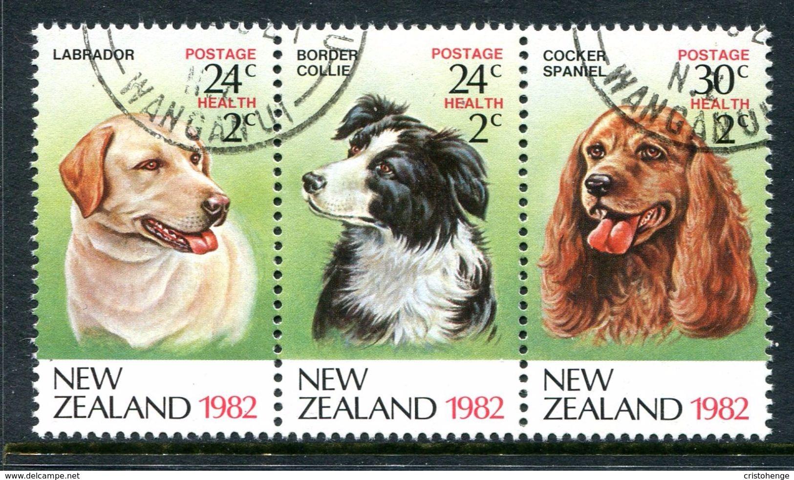 New Zealand 1982 Health - Dogs Set Used (SG 1270-1272) - Usati