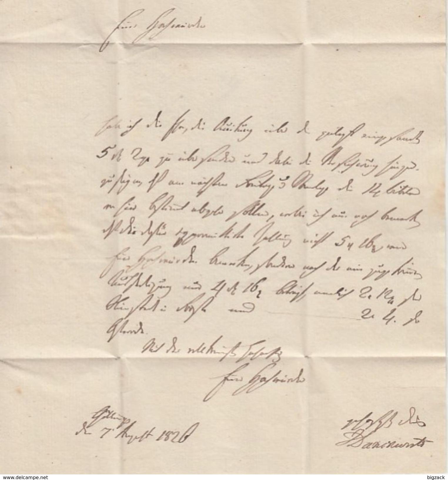 Brief R2 Göttingen 8 Aug (1820 Aus Inhalt) Gel. Nach Osterode - Hannover