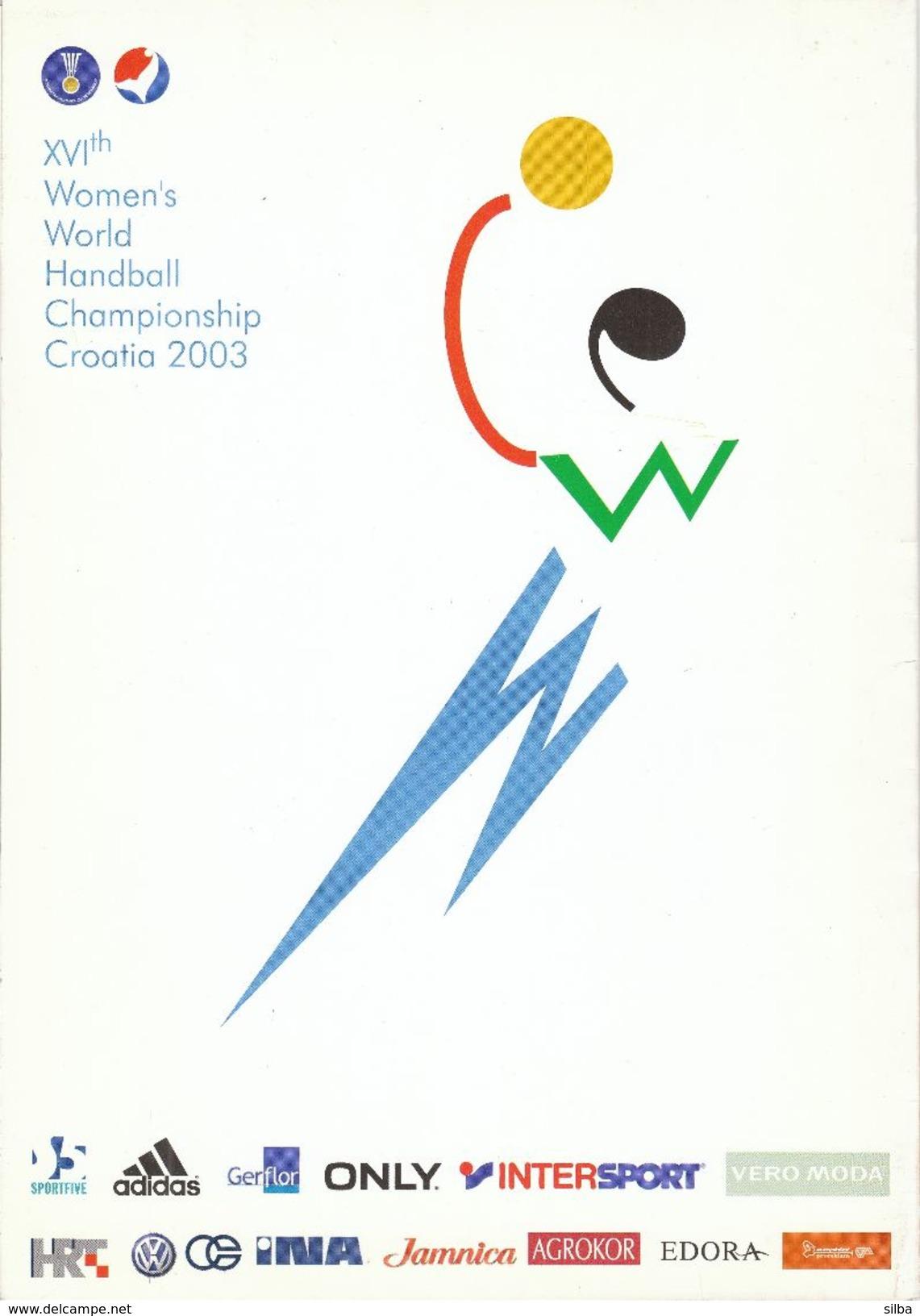 Folder Of Bulletin For 16th Women's World Handball Championship Croatia 2003 - Programmes