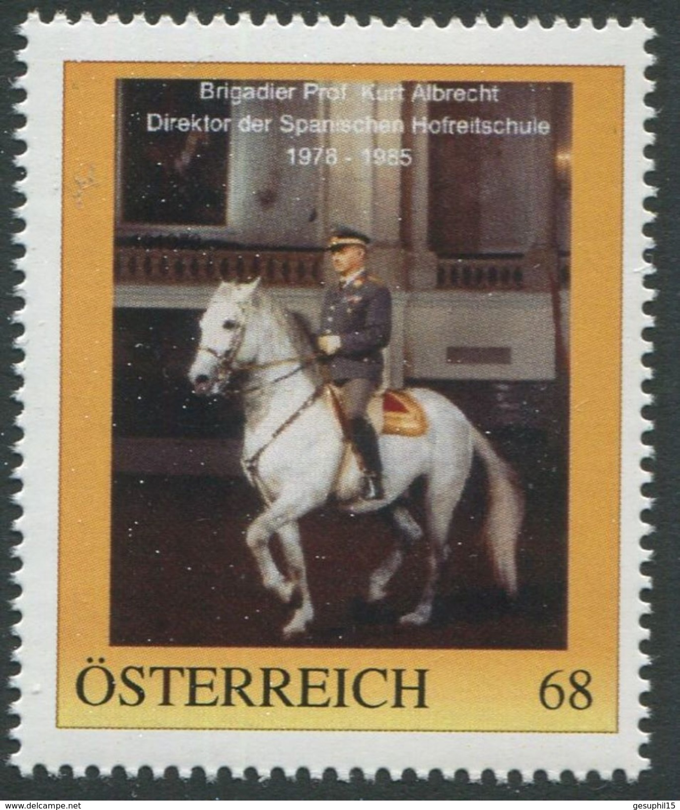 ÖSTERREICH / PM Nr. 8116026 / Brigadier Prof. Kurt Albrecht / Postfrisch / ** / MNH - Personalisierte Briefmarken