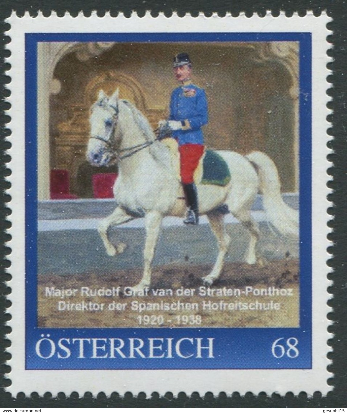 ÖSTERREICH / PM Nr. 8116025 / Major Rudolf Graf Van Der Straten-Ponthoz / Postfrisch / ** / MNH - Personalisierte Briefmarken
