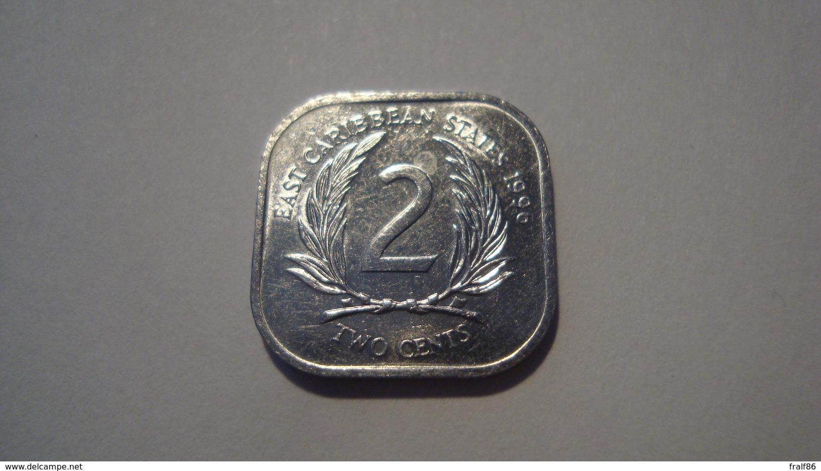 MONNAIE CARAIBES ORIENTALES 2 CENTS 1996 - Caribe Oriental (Estados Del)