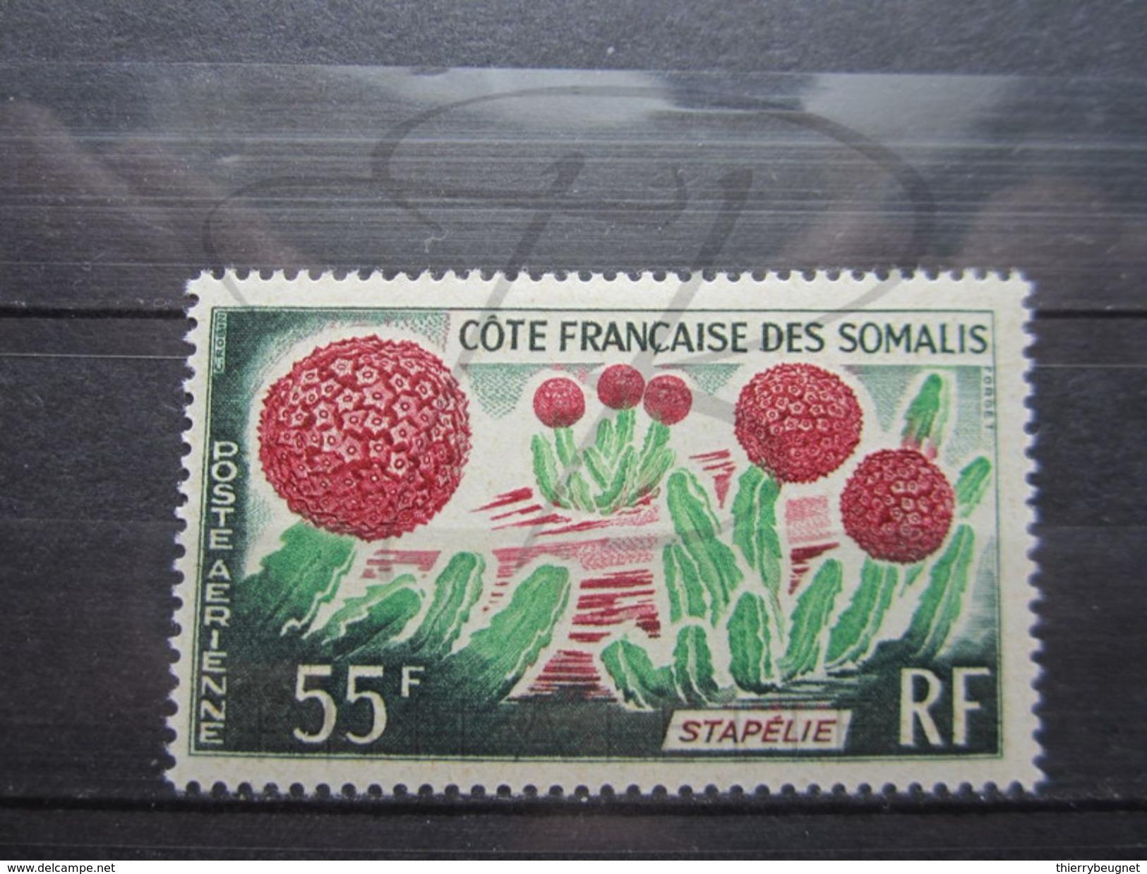 VEND BEAU TIMBRE DE POSTE AERIENNE DE LA COTE FRANCAISE DES SOMALIS N° 47 , X !!! - Côte Française Des Somalis (1894-1967)