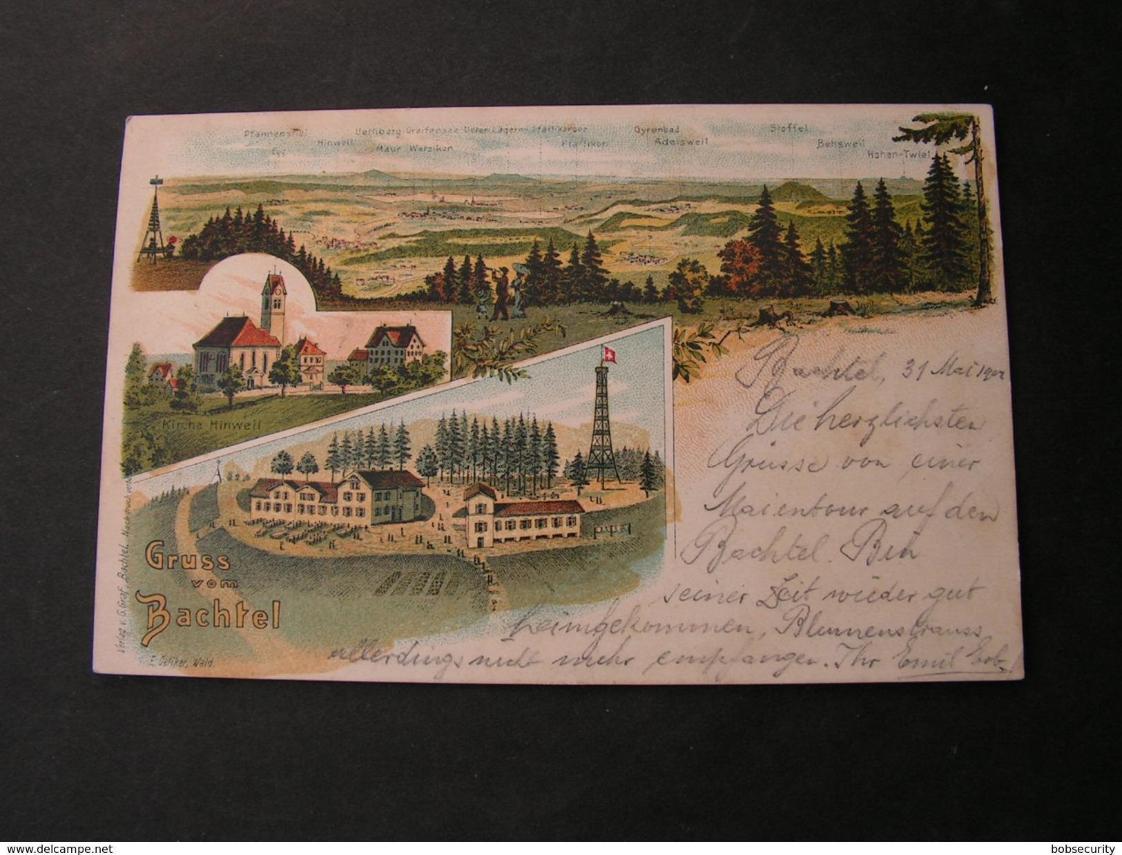 Schweiz ,  Bachtel , Hinwell Litho 1902 - ZH Zurich