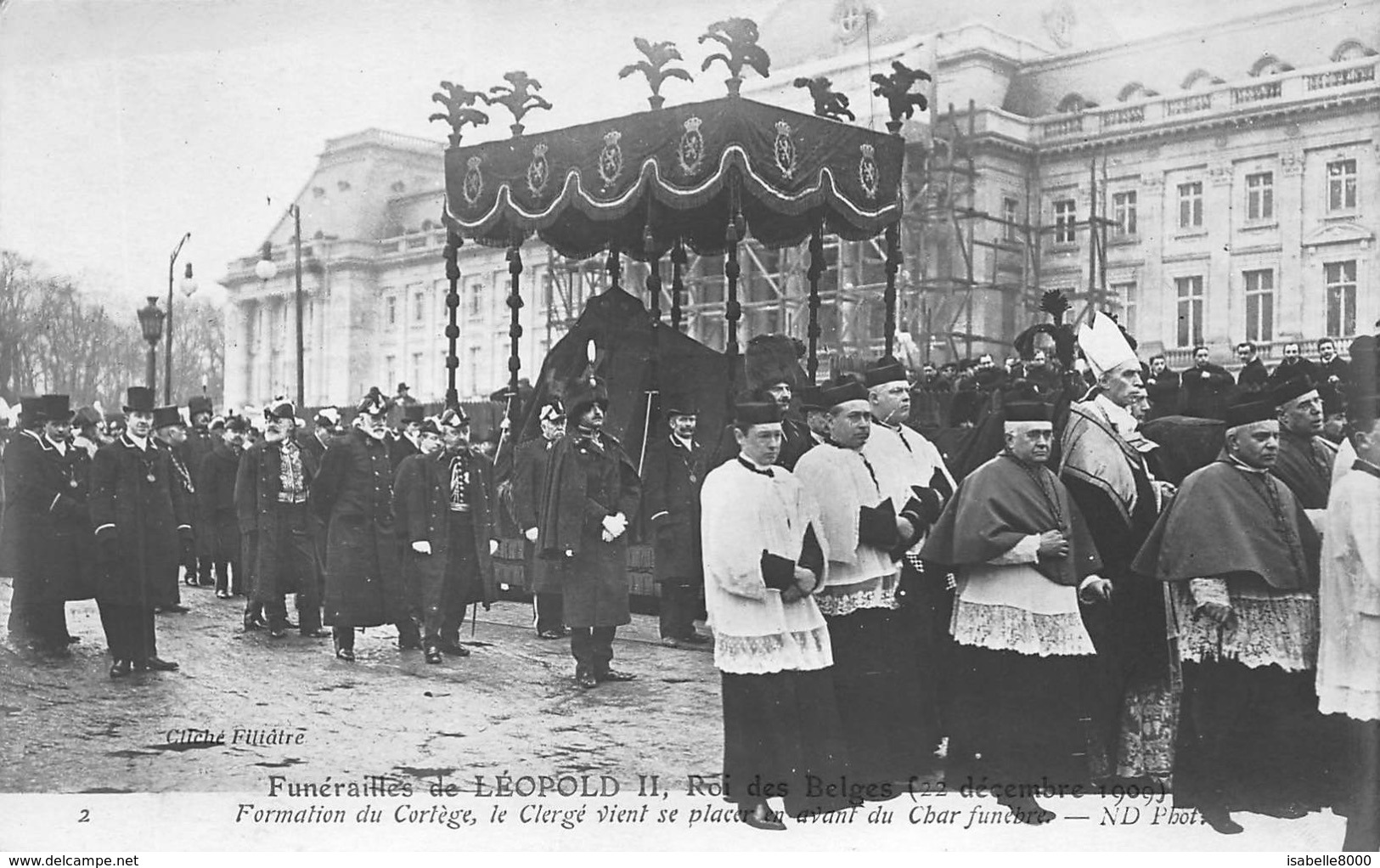 Dynastie   Funérailles De Léopold II  Belgisch Koningshuis Koning Koningin    I 177 - Königshäuser