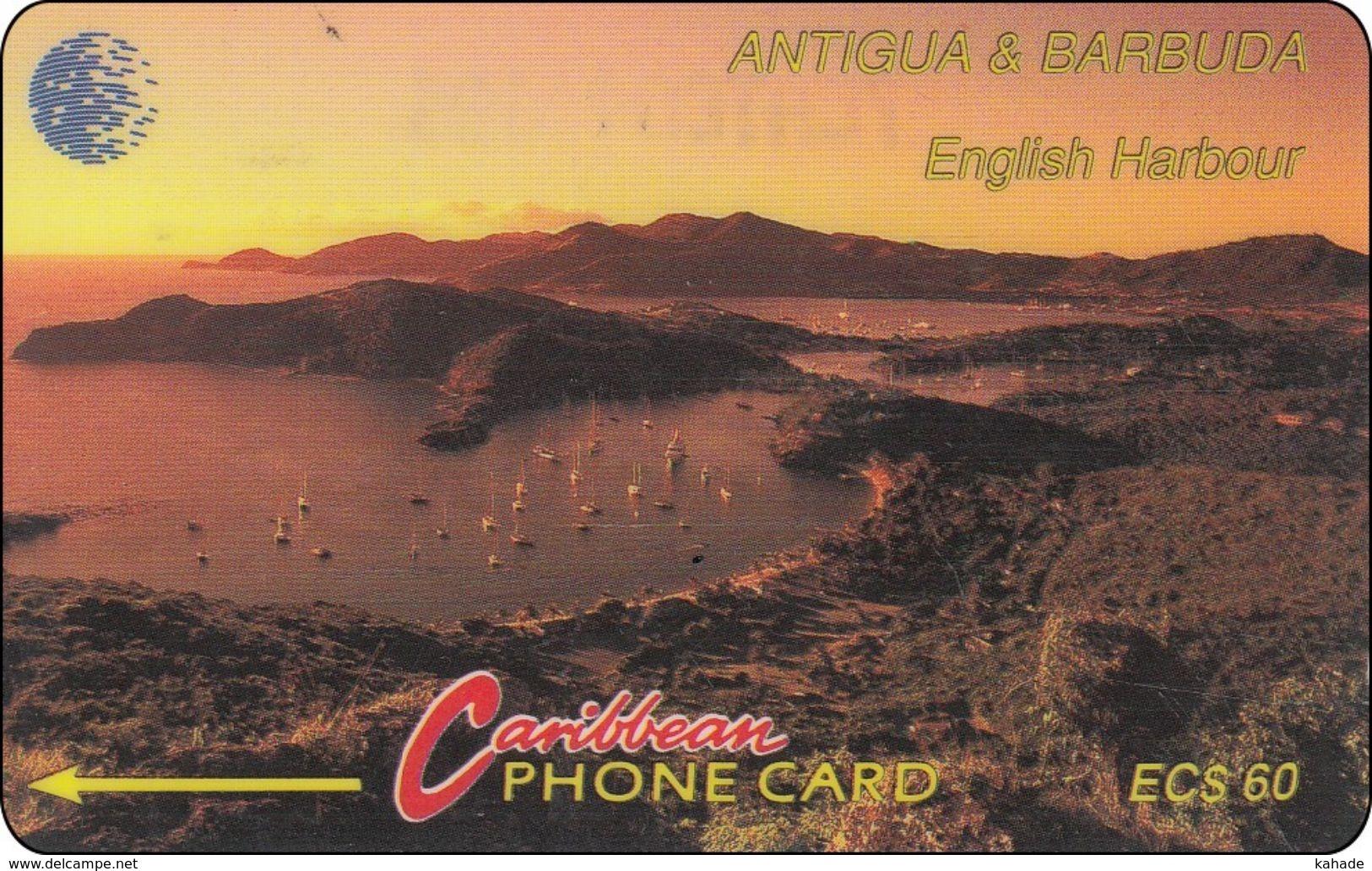 Antigua & Barbuda Phonecard Sunset Landscape - Antigua And Barbuda