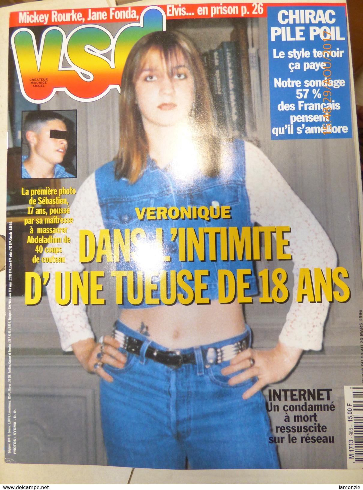 Revue VSD N° 968 (14 Au 20/03/96).  Scan Couverture Et Programme (Chirac - Juppé - Mobutu...) - Gente