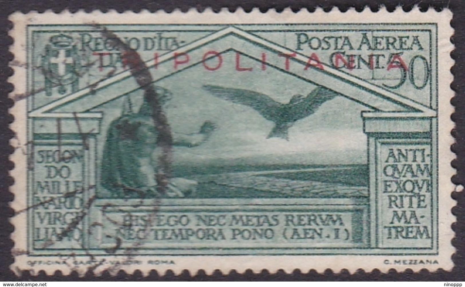 Italy-Colonies And Territories-Tripolitania A4  1930 Virgil,50c Green Used - Tripolitania