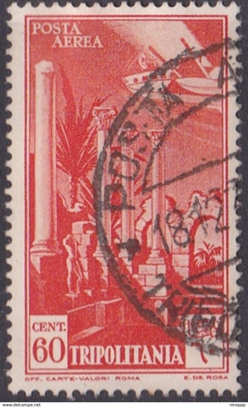 Italy-Colonies And Territories-Tripolitania A10  1931 Air Leptis Magna Ruines,60c Orange,used - Tripolitania
