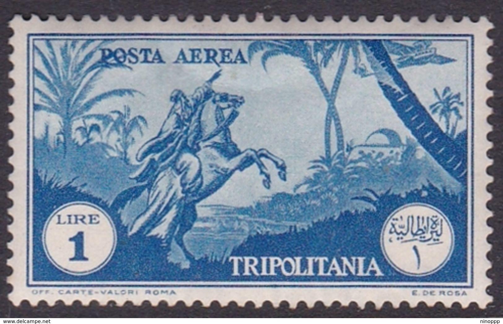 Italy-Colonies And Territories-Tripolitania A13  1931 Air Horseman, 1 Lira Blue Mint Hinged - Tripolitania