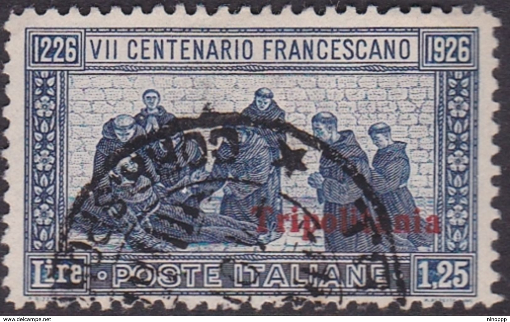 Italy-Colonies And Territories-Tripolitania S28 1926 St Francis Of Assis, Lire 1.25 Blue,used - Tripolitania