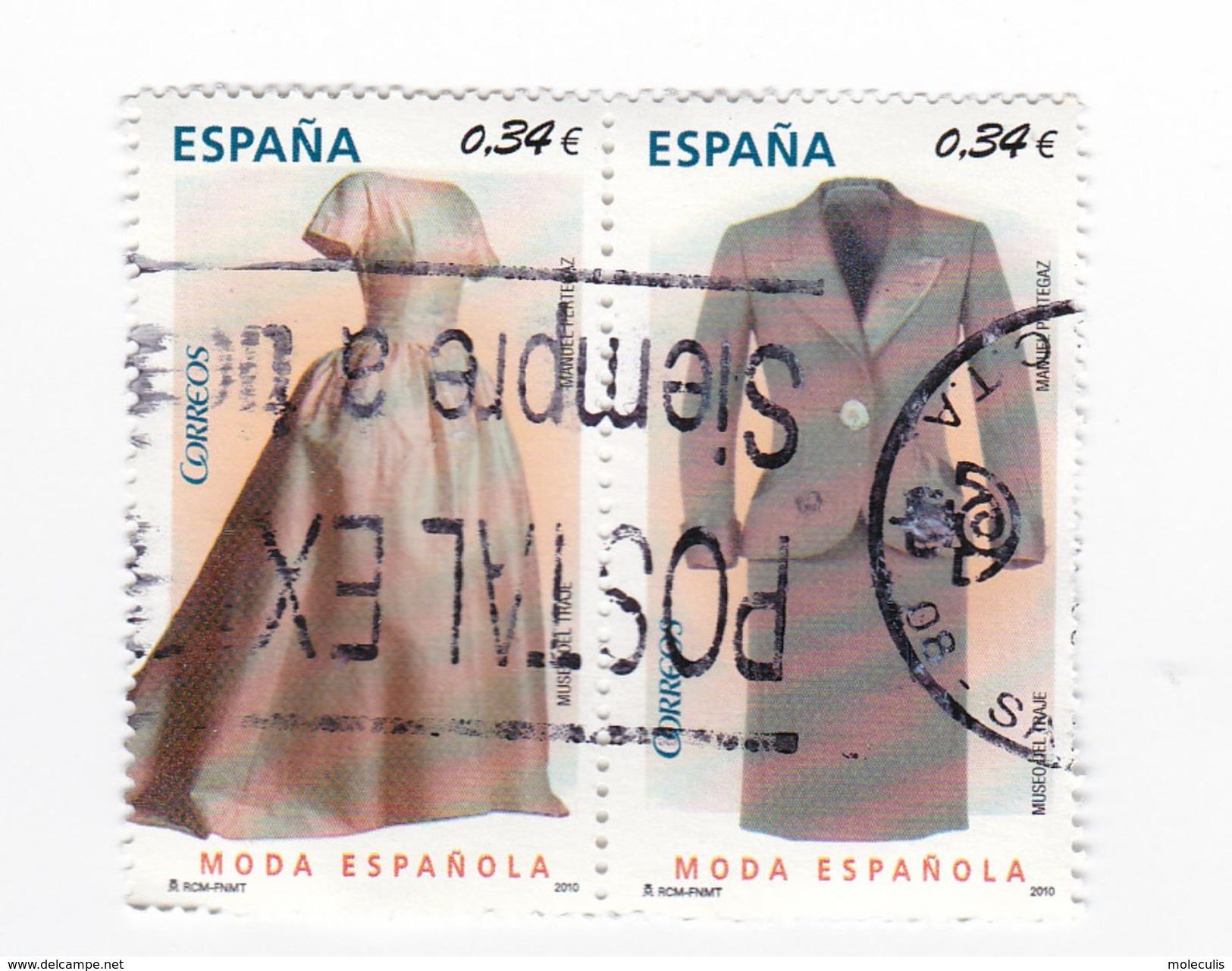 2 TIMBRES  - 0,34 Euros - MODA ESPAGNOLE - 1931-Today: 2nd Rep - ... Juan Carlos I