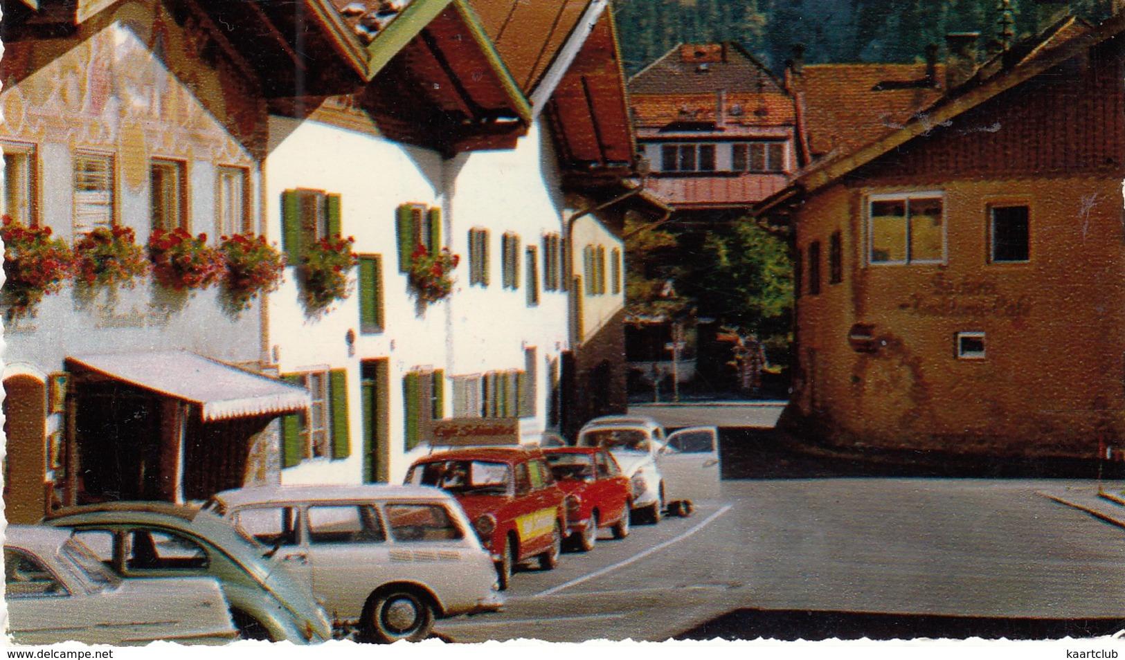 Mittenwald: OPEL REKORD P2, VW 1200 KÄFER/COX & 1500 VARIANT, FIAT 850 COUPÉ - Karwendelgebirge 2385 M  - (D) - Toerisme
