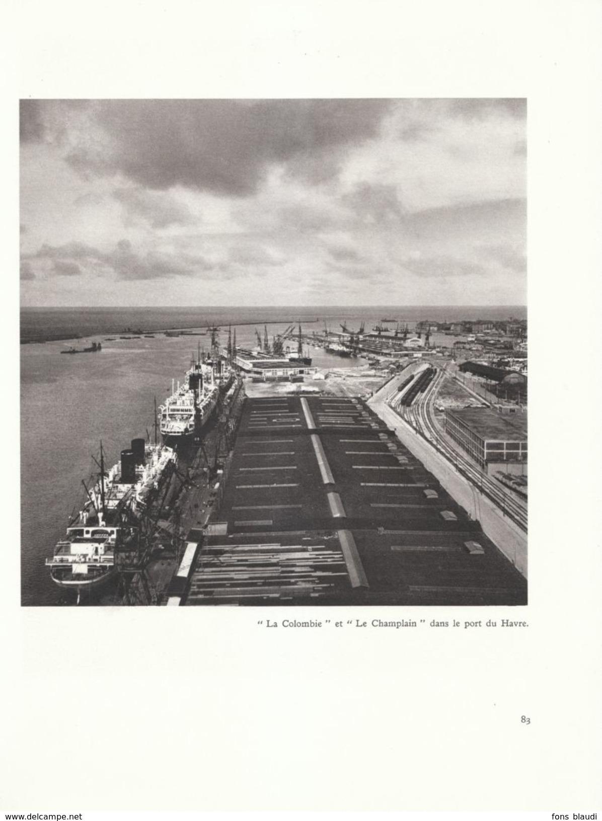 1950 - Héliogravure De Roger Schall - Le Havre (Seine-Maritime) - Le Port - FRANCO DE PORT - Vieux Papiers