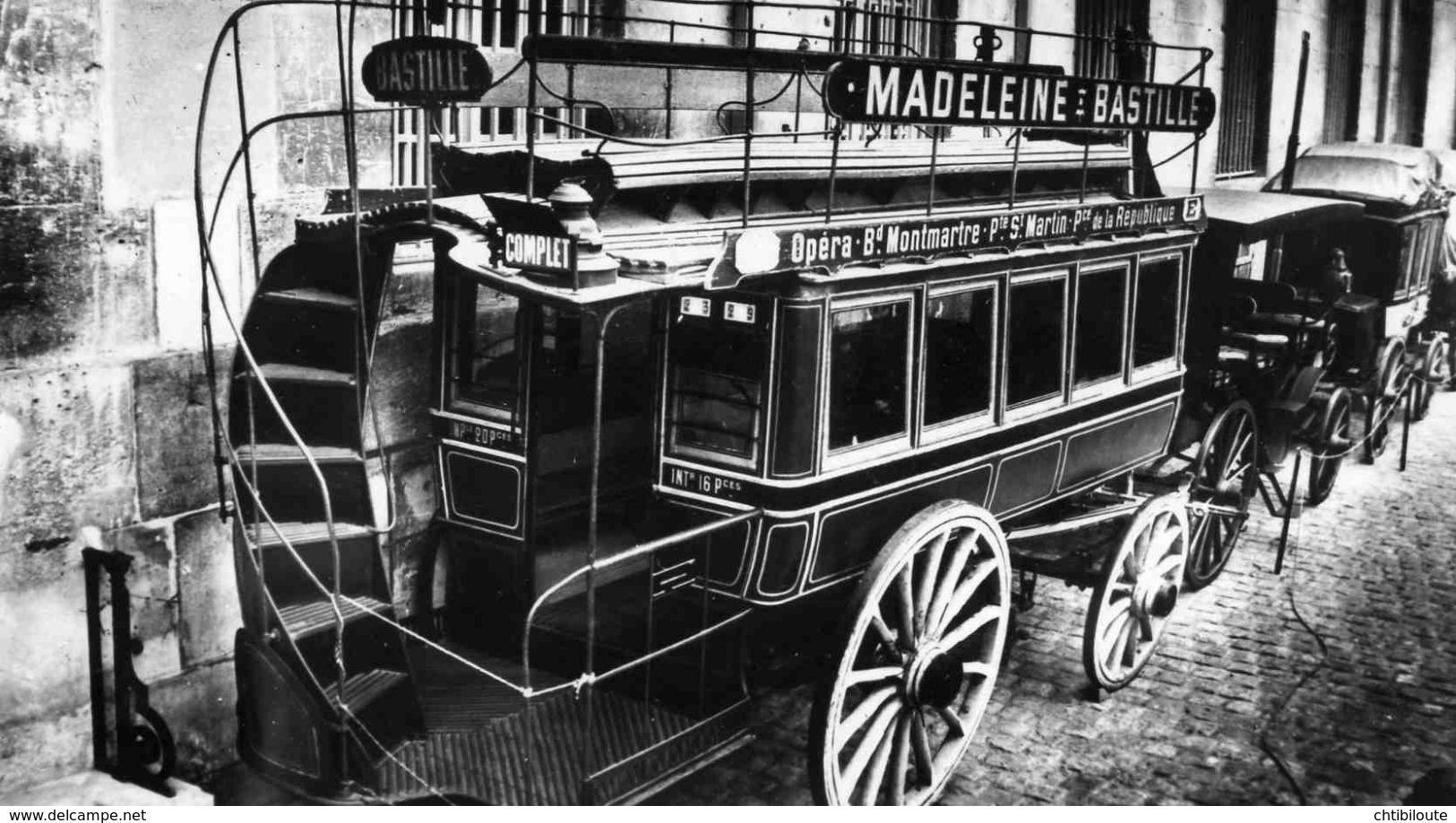 AUTOMOBILE /  /  L 38  / OMNIBUS PARISIEN  1910  CPM / CPSM   10 X 15 - Taxi & Carrozzelle