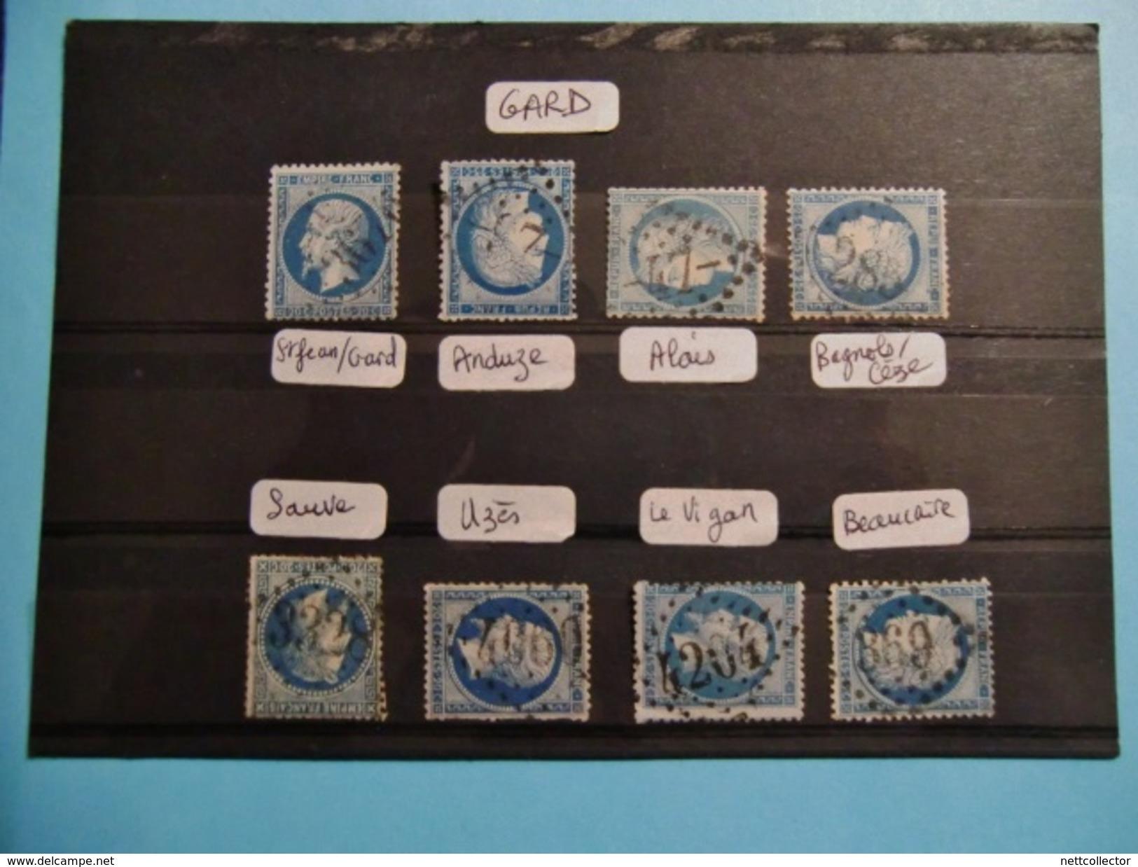 FRANCE CLASSIQUES COLLECTION SPECIALISEE GC Dont RARES / TOUS DEPARTEMENTS / 2è Et DERNIERE PARTIE MAJ. TB - Marcophilie (Timbres Détachés)