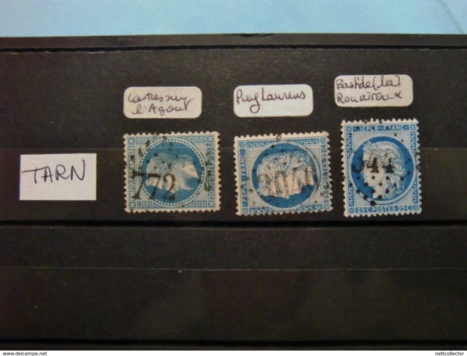 FRANCE CLASSIQUES COLLECTION SPECIALISEE GC Dont RARES / TOUS DEPARTEMENTS / 2è Et DERNIERE PARTIE MAJ. TB - Marcophily (detached Stamps)