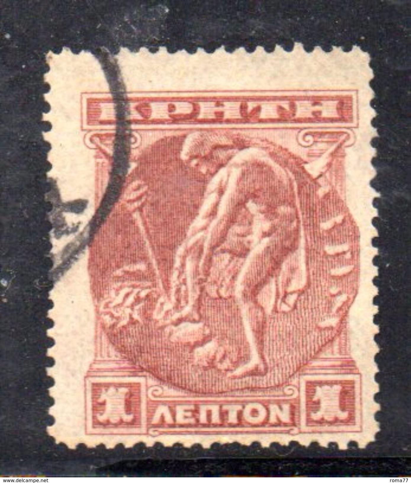 XP7 - CRETA 1900, 1 Lepton Usato - Creta