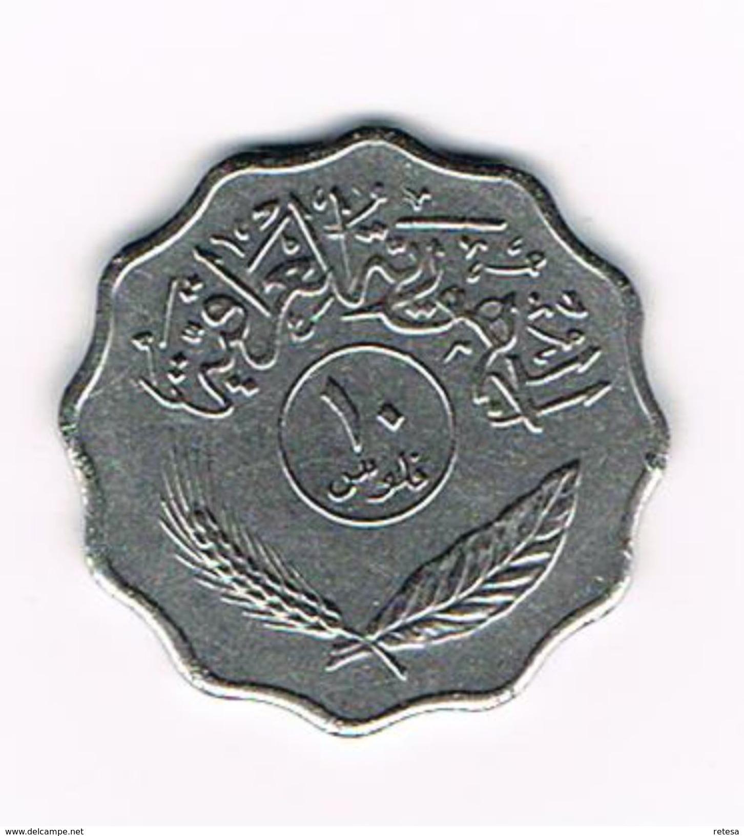 ) IRAK  10  FILS  1975 - Iraq