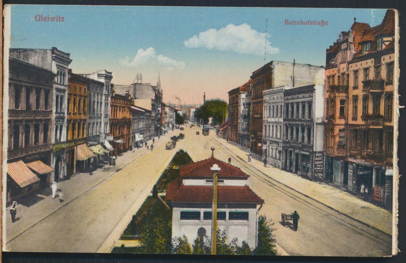 °°° 5041 - GERMANY - GLEIWITZ - BAHNHOFSTRASSE °°° - Schlesien
