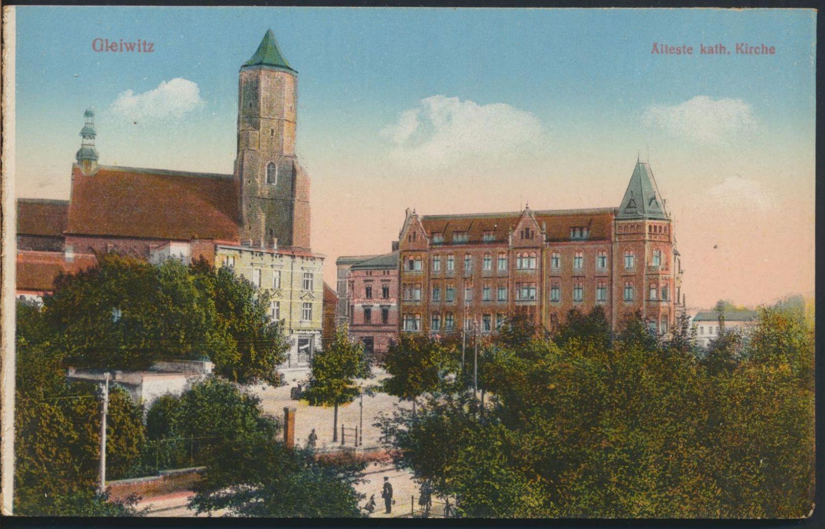 °°° 5042 - GERMANY - GLEIWITZ - ALTESTE KATH. KIRCHE °°° - Schlesien