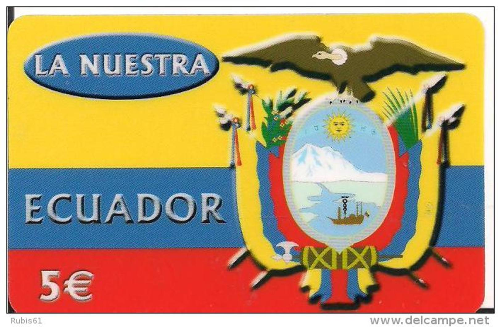 TARJETA PREPAGO ECUADOR - Tarjetas Telefónicas