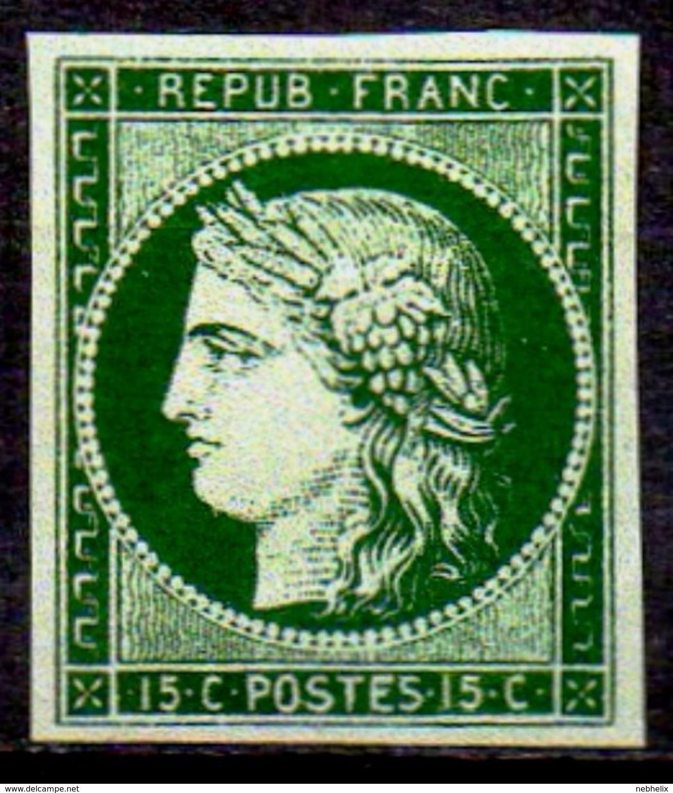 SUPERBE  CERES Vert Foncé Du N°2b De SPIRO NEUF Avec GOMME** LUXE 1er Choix - 1849-1850 Cérès