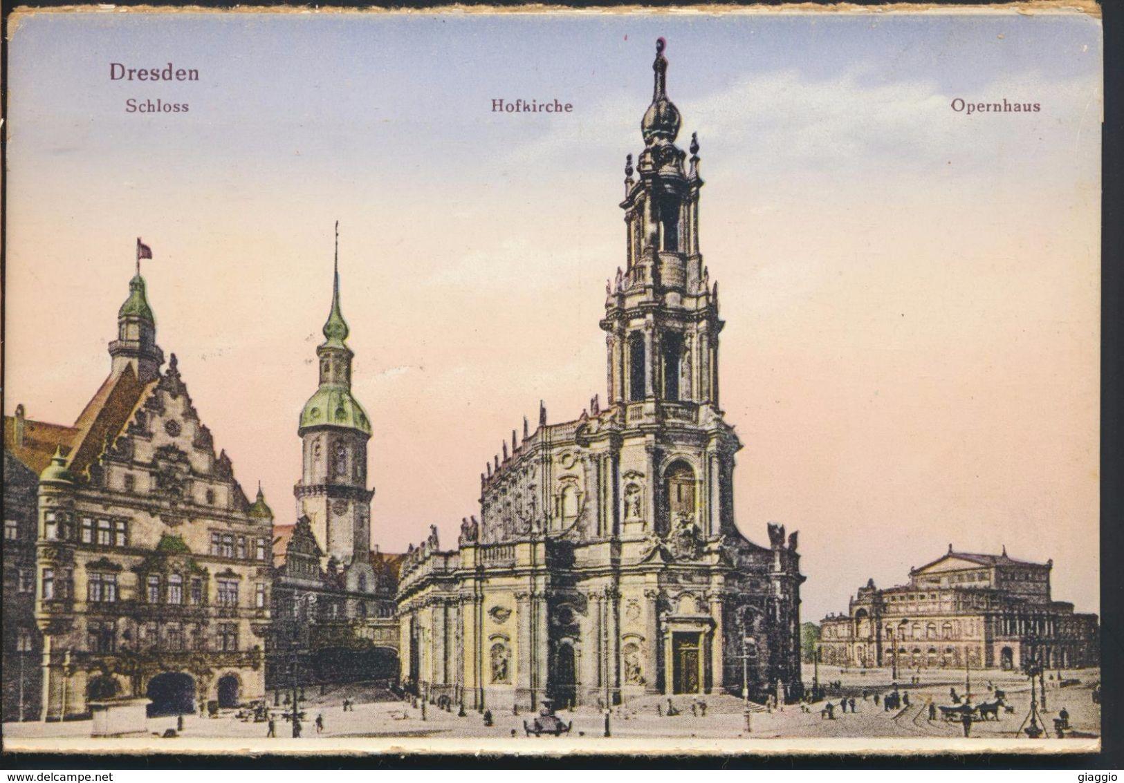°°° 5059 - GERMANY - DRESDEN - SCHLOSS HOFKIRCHE OPERNHAUS °°° - Dresden
