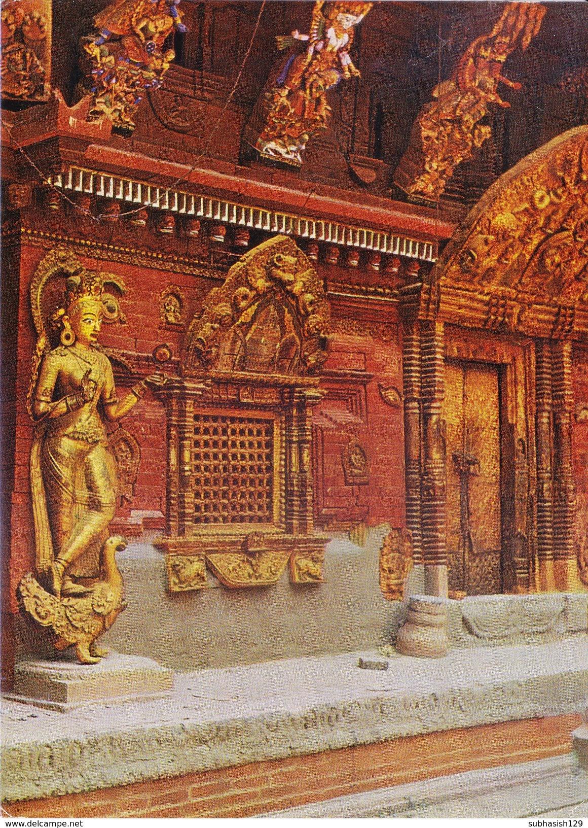 NEPAL - COLOUR PICTURE POST CARD - COTTAGE INDUSTRIES & HANDICRAFTS EMPORIUM - TOURISM - KUMARI CHOWK - Nepal