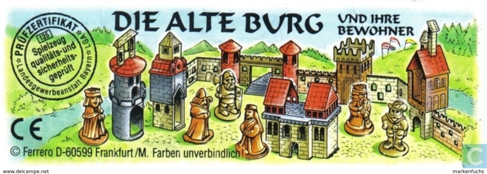 Die Alte Burg  1998  / Burgfräulein + BPZ - Ü-Ei
