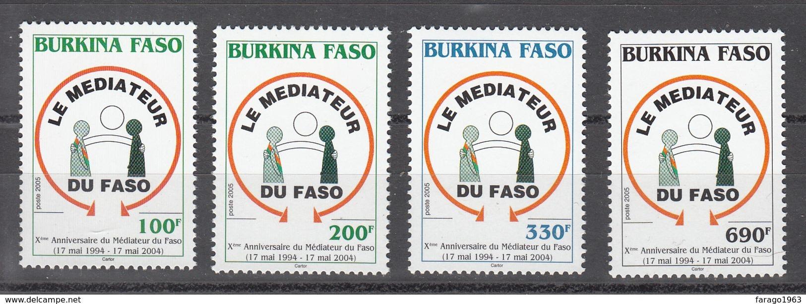 2005 Burkina Faso Mediator  Complete Set Of 4 MNH - Burkina Faso (1984-...)