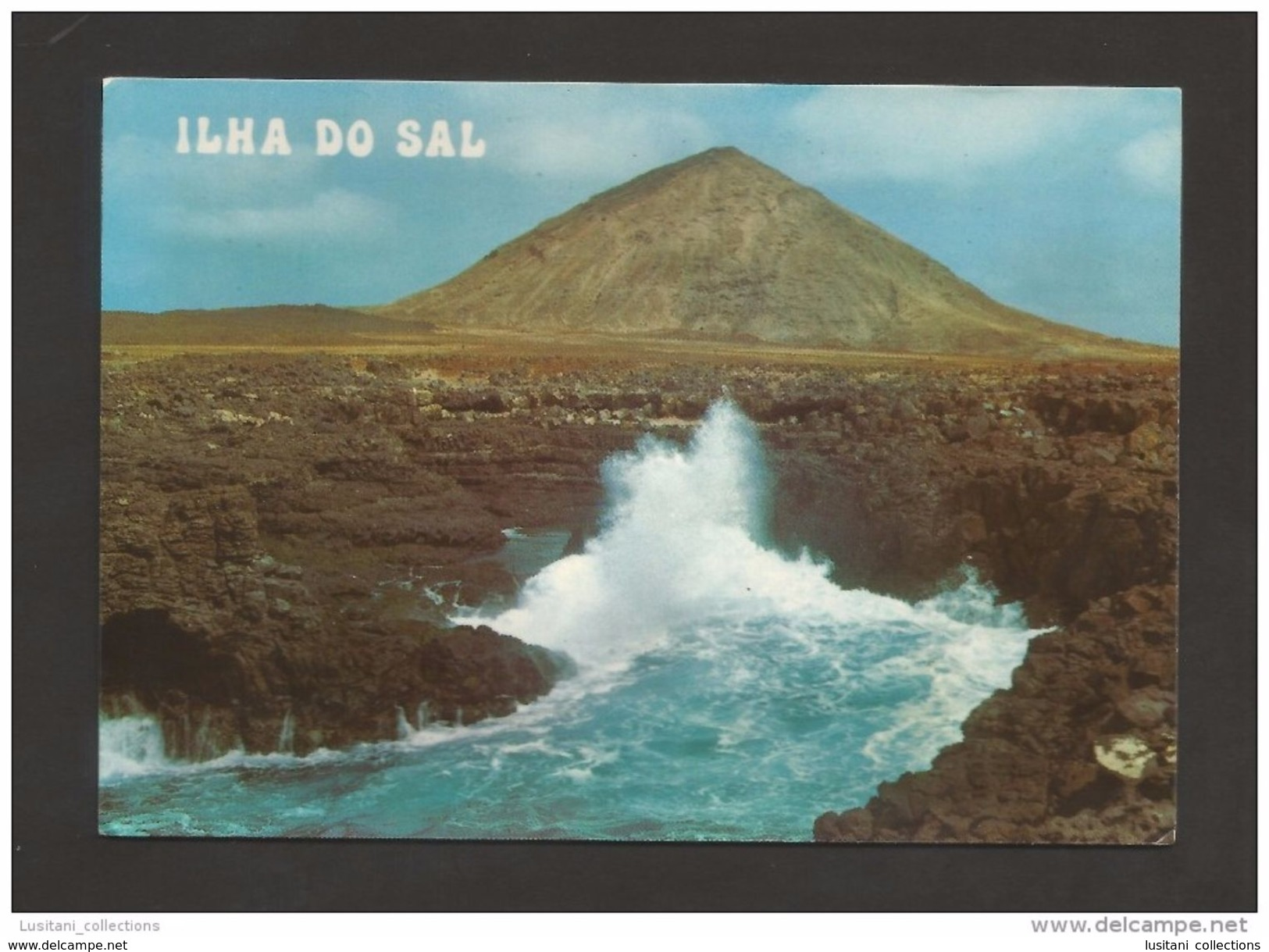 ILHA DO SAL 1970 YEARS CABO VERDE CAP VERT BURACONA FURNAS POSTCARD - Cap Vert