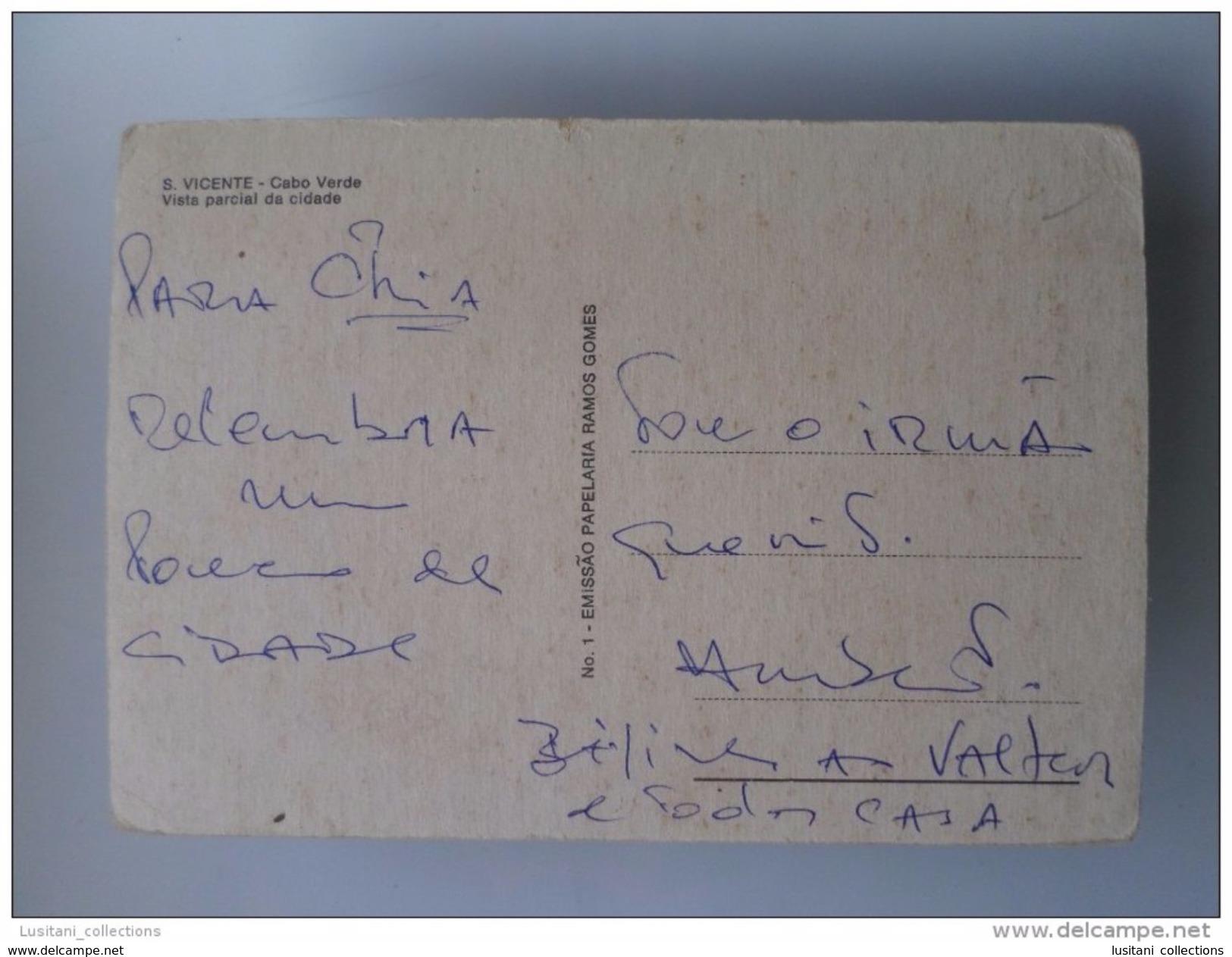 SÃO VICENTE 1960 YEARS AFRICA AFRIKA AFRIQUE CABO VERDE CAPE VERT PARTIAL VIEW POSTCARD - Cap Vert