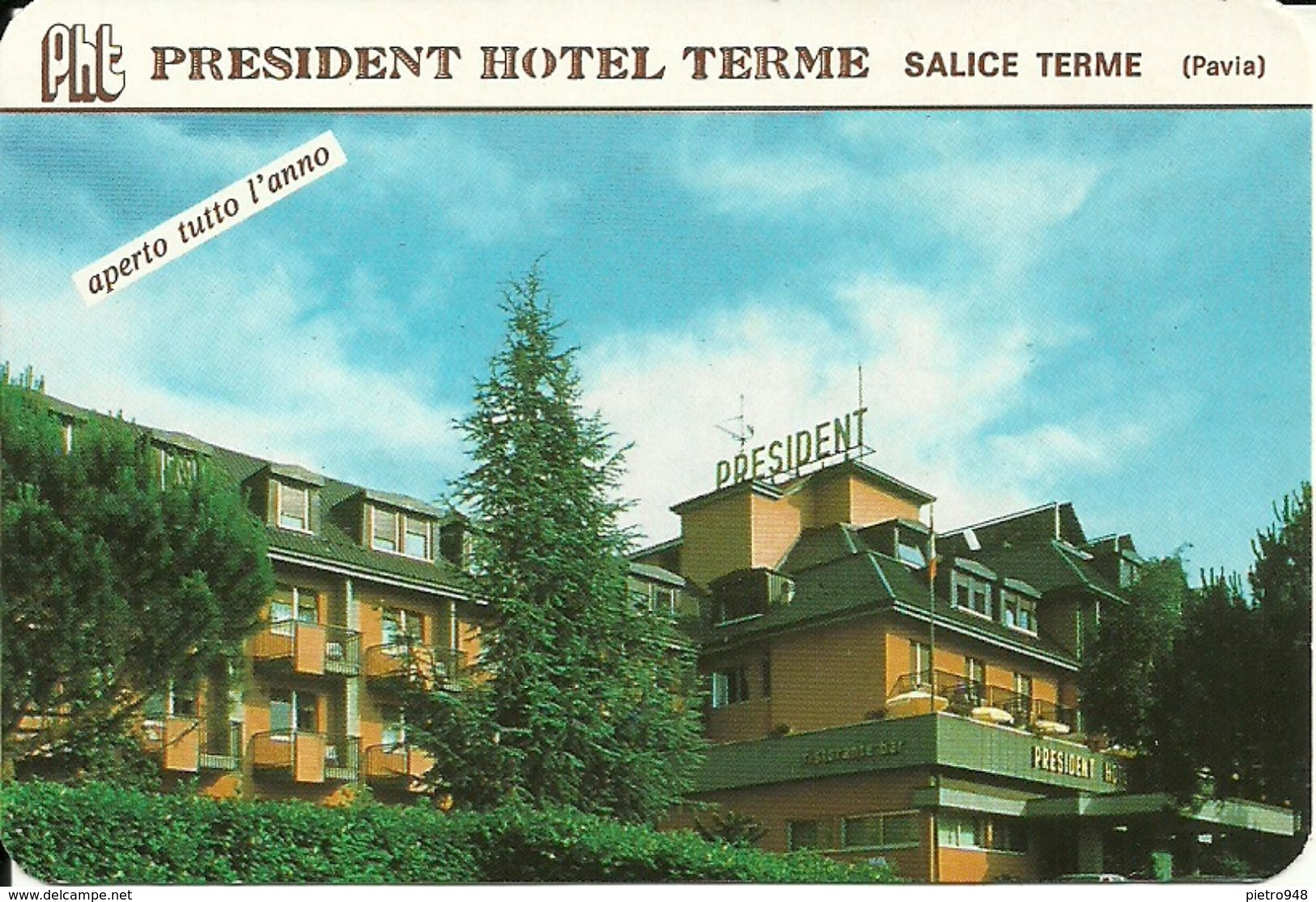 """Calendarietto Pubblicitario""""President Hotel Terme"""" Salice Terme (Pavia) Anno 1999 - Formato Piccolo : 1991-00"""