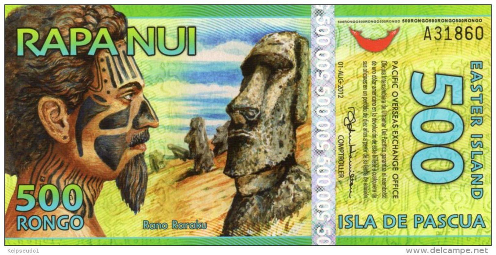 ILE DE PAQUES : 500 Rongo 2011 (unc) - Rapa Nui