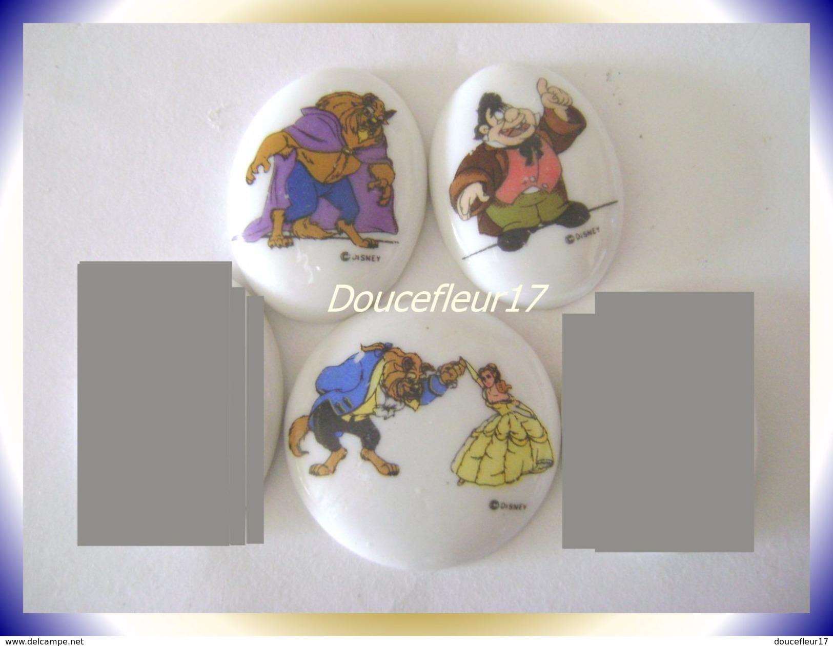 Medaillons La Belle Et La Bête ... Lot De 3 ... Ref AFF : 4-1993 ( Pan 0027) - Disney