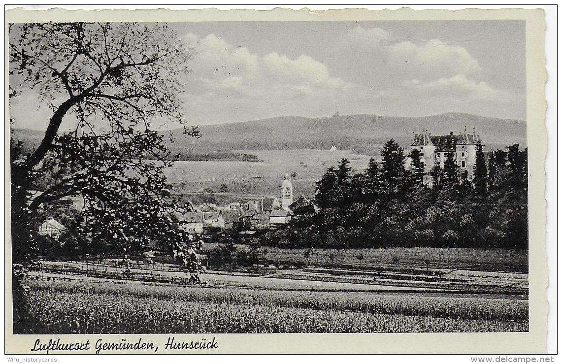 AK 0751  Gemünden ( Hunsrück ) - Verlag Pullig Um 1938 - Gemünden