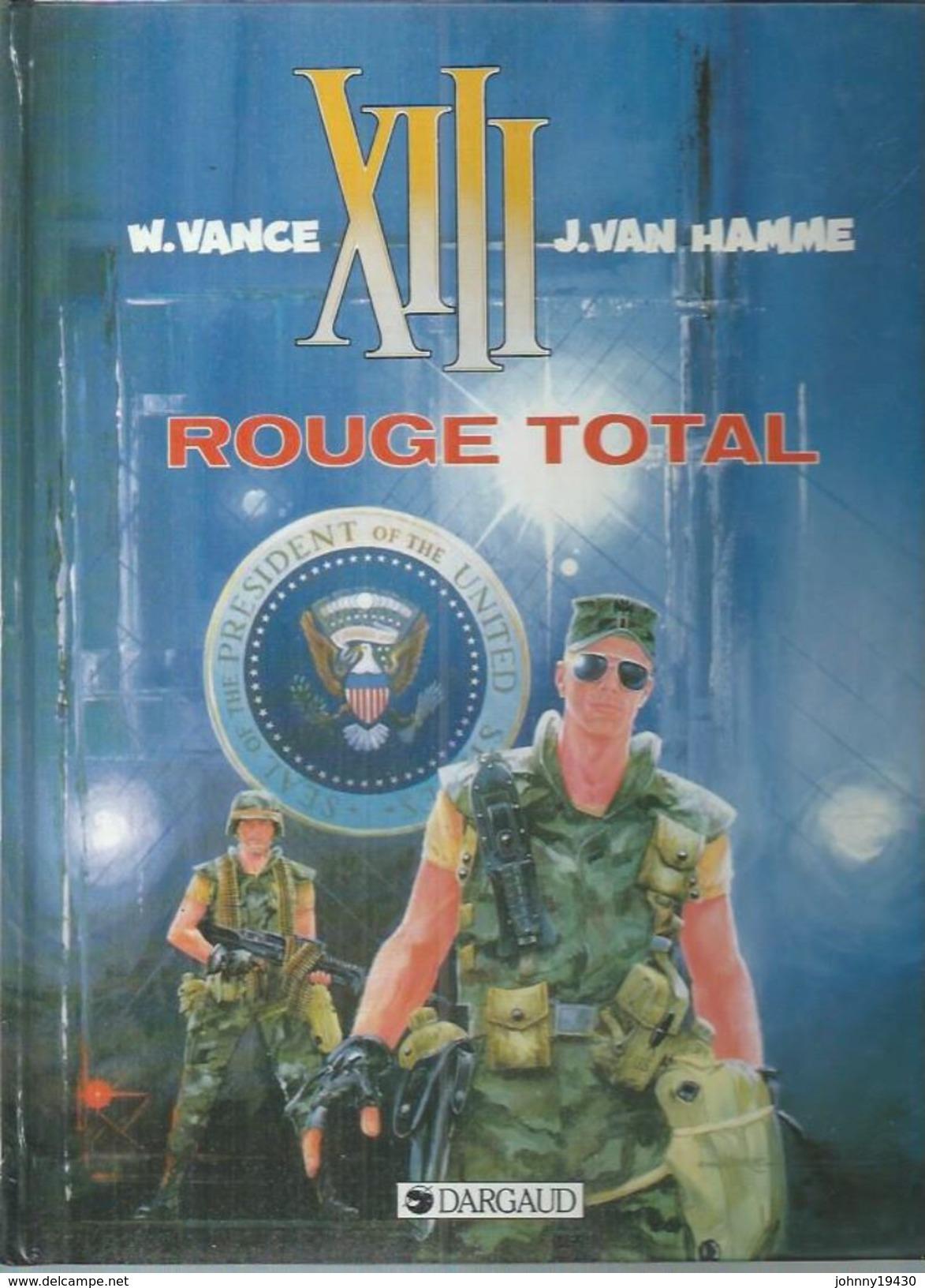 XIII - ROUGE TOTAL   ( VANCE / VAN HAMME )  DARGAUD - XIII