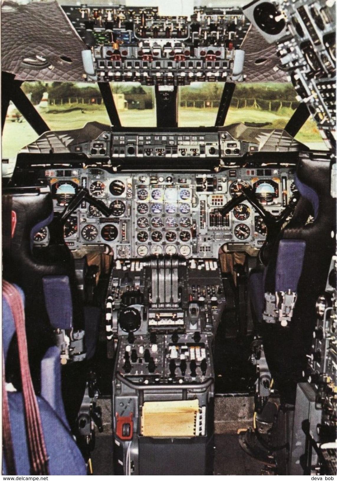 Aviation Postcard BAC Concorde Flight Deck Supersonic Aircraft - 1946-....: Moderne