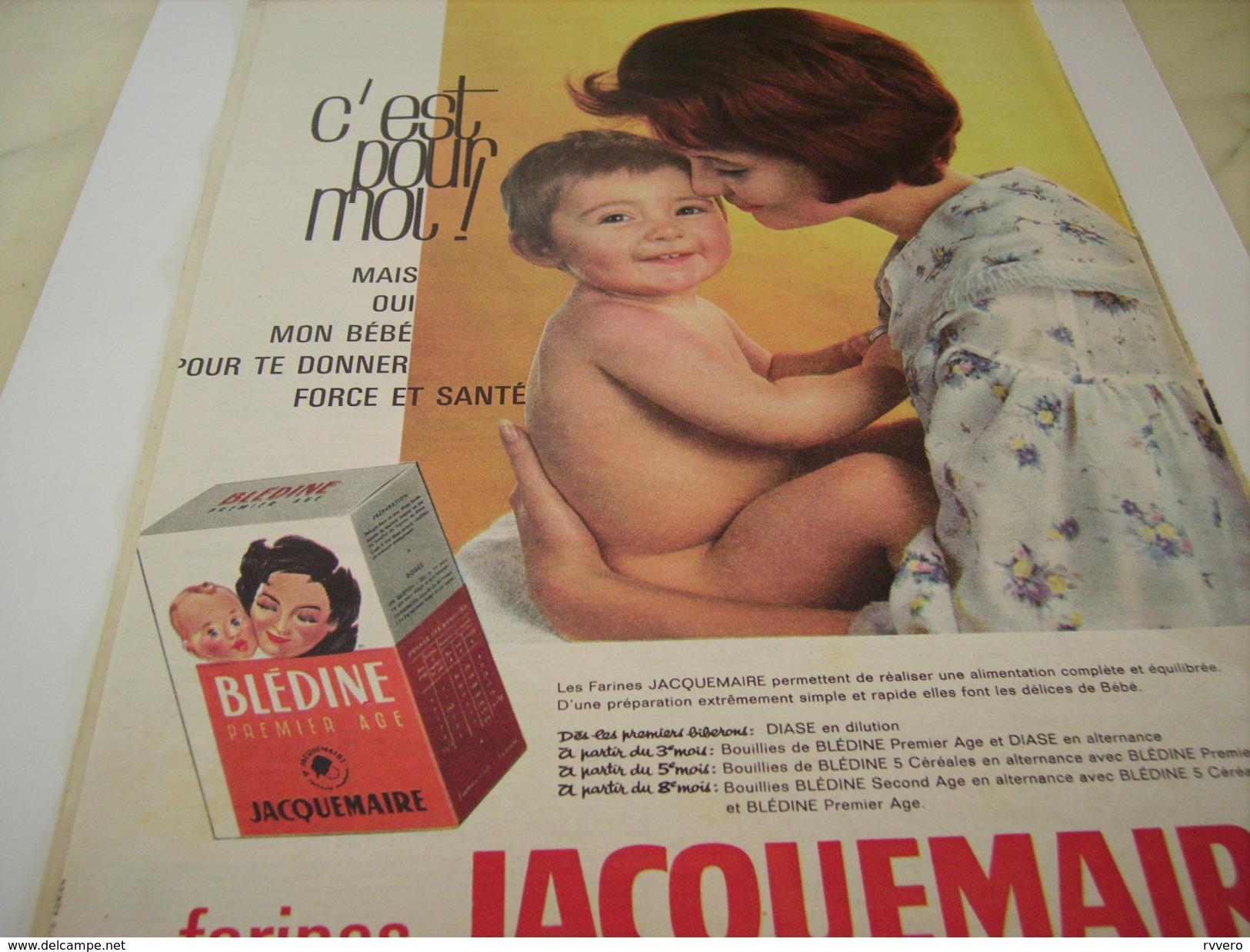 ANCIENNE PUBLICITE LA BLEDINE DE JACQUEMAIRE 1961 - Posters