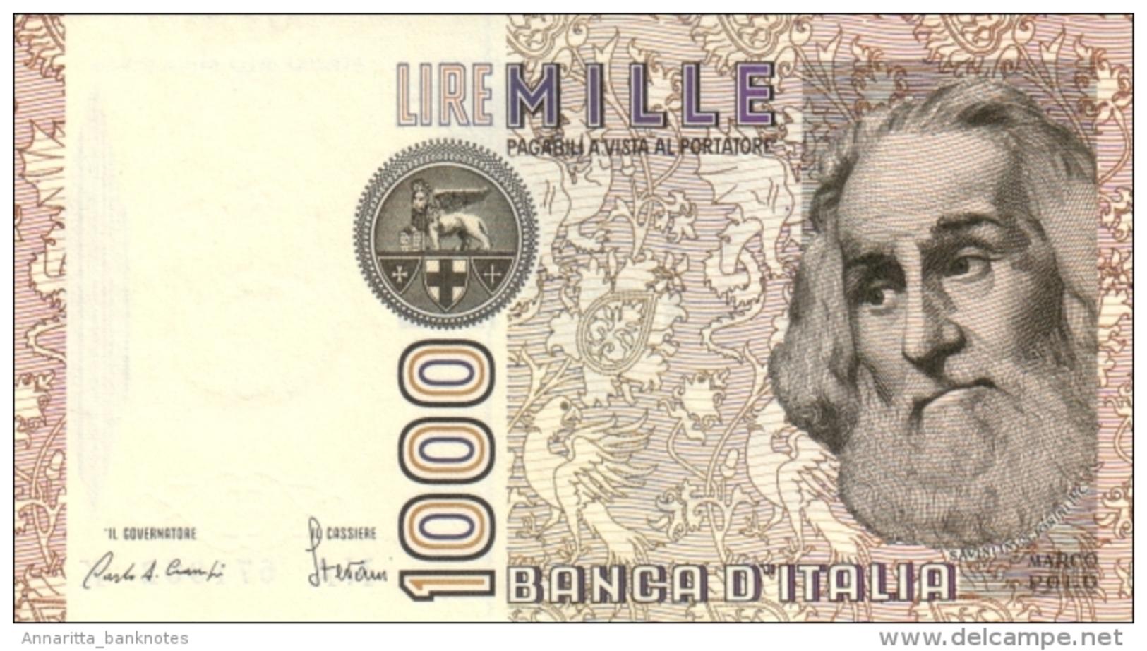 ITALY 1000 LIRE 1982 P-109a UNC SIGN. CIAMPI & STEVANI [ IT109a ] - 1000 Lire