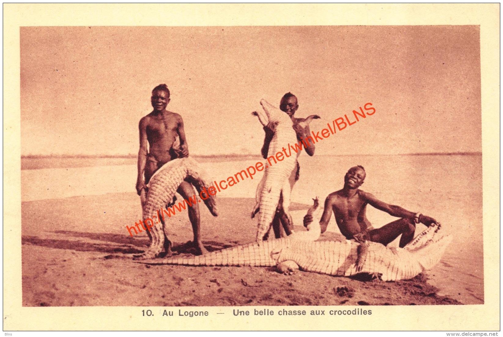 Au Logone - Une Belle Chasse Aux Crocodiles - Centrafricaine (République)