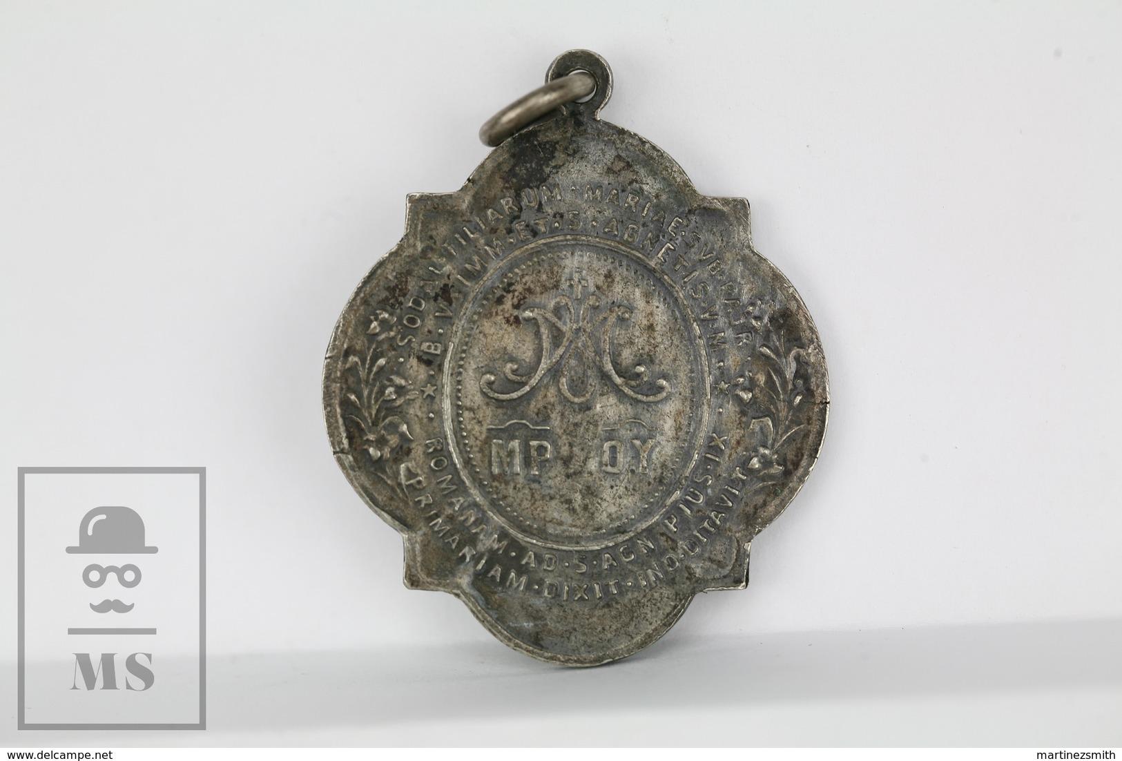 Mater Tous Oculos Ad Nos Converte - Romae. Old Religious Medal - Religión & Esoterismo